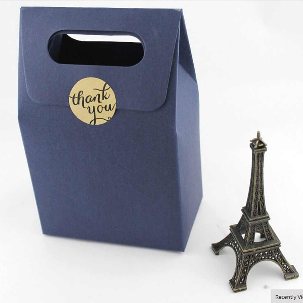 1 Hoja 3CM de diámetro DIY kraft etiqueta adhesiva caja de caramelos etiquetas de papel/Gracias amor autoadhesivo pegatinas regalo hecho a mano/pastel
