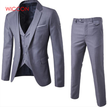 Three-piece Suit Blazers, Pants Trousers & Vest Sets