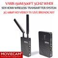 Vaxis 150 m/500ft 5 GHz Sistema de Transmissão SDI HDMI Sem Fio WHDI 3G 1080 P Vídeo HD TV Transmissor e Receptor de Transmissão ao vivo