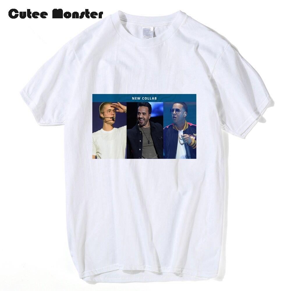 Justin Bieber T Shirt Men Fashion Luis Fonsi Daddy Yankee Despacito Fans Printed Tees Hip Hop Short Sleeve Top Clothing 3XL