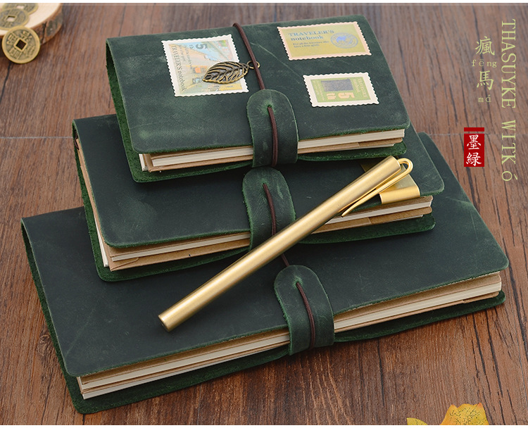 Vintage Leather Traveler's Journal Notebook, Spiral Diary Notepad Pocket Passport Size Soft Copybook Gift zonestar newest full metal aluminum frame big size 300mm x 300mm auto level laser engraving run out decect 3d printer diy kit