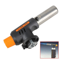 High Quality New Gas Torch Butane Burner Auto Ignition Camping Welding Flamethrower BBQ Travel цена