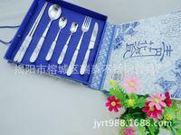 6PCS Creative Cute Ceramic Handle Stainless Steel Fork Fruit Forks Dessert Cutlery Bone China Dinnerware Sets 3DCJY25