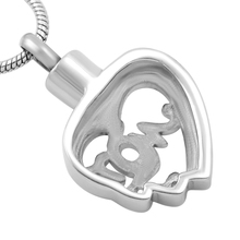 Mom In My Heart Memorial Necklace