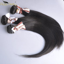 Human Hair Weave Bundles Natural Color 1b Malaysian straight Hair weft ross pretty Hair Extension 1/3/4 Piece Non Remy(China)