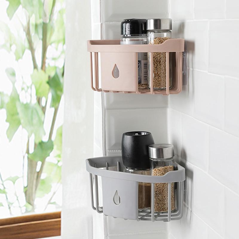 Simple Bathroom Shelf Tripod Powerful Wash Shelf Toilet Storage Rack Bathroom Corner Wall Hanging Locker Kitchen Storage Rack