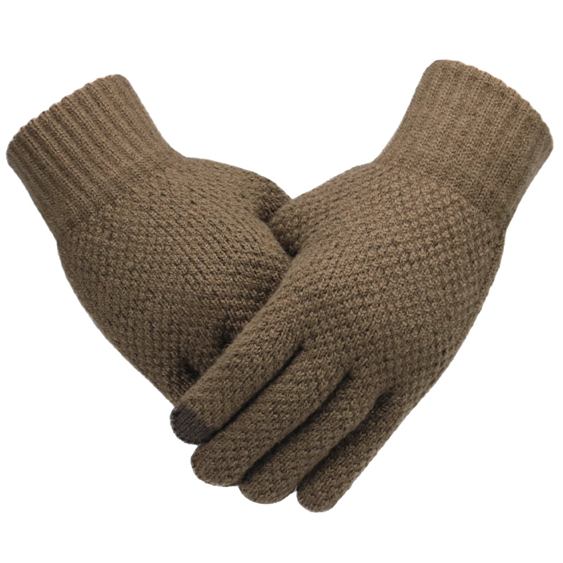 Warm and soft Knitted Touch Screen Gloves for Men Suitable during Winter and Autumn Made of Acrylic and Polyester Material 4