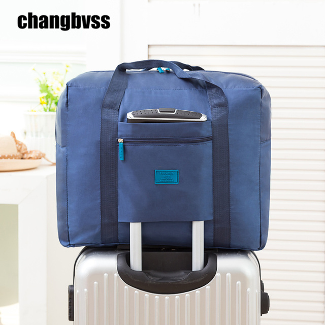 32L Waterproof Oxford Luggage Bag Large Capacity Clothes Storage Bag For Travel Home Travel Organizer Portable Suitcase bolsa