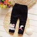 BibiCola 2016 otoño del resorte de los bebés pantalones chicas Polainas flacas delgada pantalones Casuales para la muchacha 0-2 años de edad rosa de color