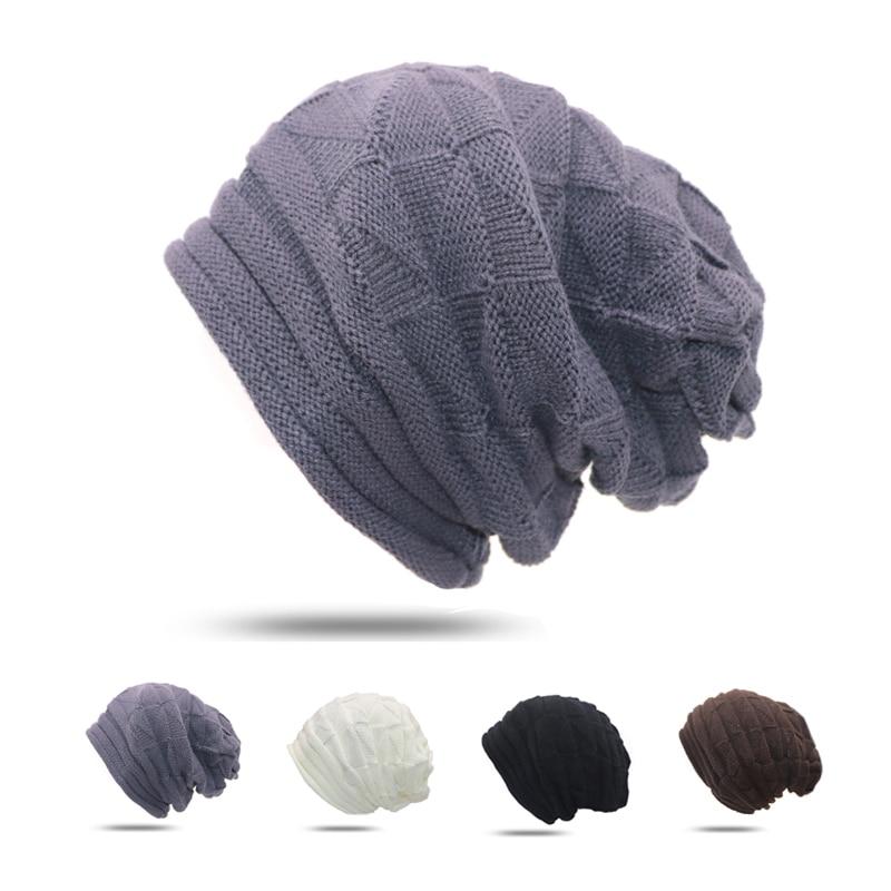 1 Stücke Winter Hüte Für Frauen Beiläufige Gestrickte Hüte Geometrie Mützen Weibliche Warme Kappe Herbst Hip Hop Cap Mädchen Kopfbedeckungen Casquette