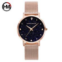 Anna MARTIN moda donna orologio di lusso con strass cielo stellato quadrante da donna cinturino in acciaio inossidabile impermeabile coppia orologi XK36