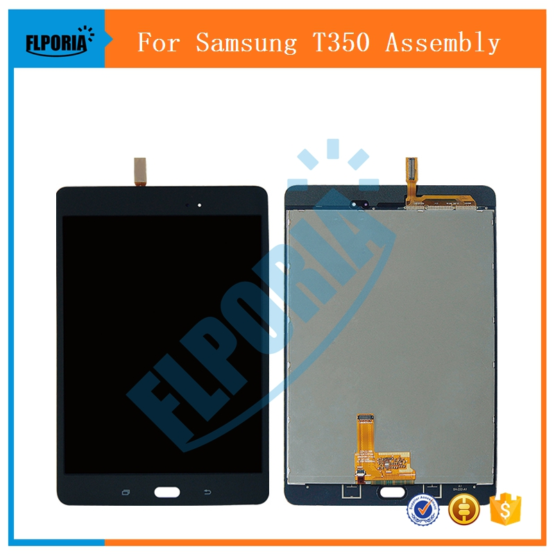 Touch Screen Digitizer Replacement for Samsung Galaxy Tab A 8.0 SM-T350 Compatible with Model Samsung Galaxy Tab A 8.0 SM-T350 T350 Touch Screen Replacement Display Digitizer Assembly with Repair Too
