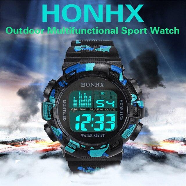 HONHX Women Mens LED Digital Date Alarm Waterproof Sports Watch Army Professiona