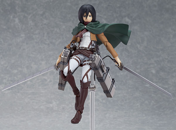 """Free Shipping <font><b>Attack</b></font> <font><b>on</b></font> <font><b>Titan</b></font> <font><b>Figma</b></font> <font><b>203</b></font> <font><b>Mikasa</b></font> <font><b>Ackerman</b></font> 6"""" PVC Action Figure Collectible Model Toy #AT002 <font><b>Anime</b></font>"""