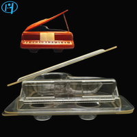 New Plastic PIANO Shape Chocolate Mold 3D DIY Handmade Cake Candy Mold Vehicle Chocolate Making Tool