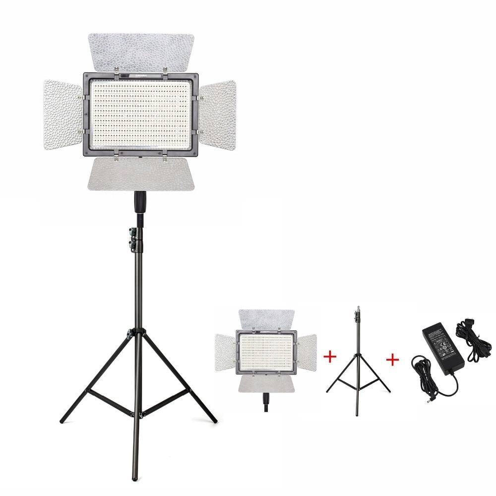 цена на YONGNUO YN900 Pro LED Video Light Lamp Photography 5500K Camera APP Control 900Pcs LED Outside Lighting+2M Light Stand+Adapter