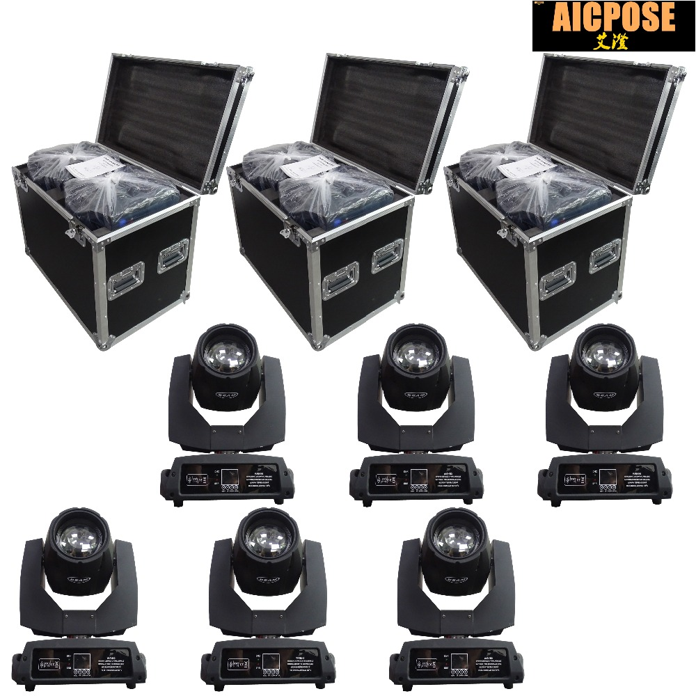 6pcs/lots 230w 7r Beam Light With Flight Case DMX512 Control Moving Head Lights Professional Stage Party Stage Lighting Effecte