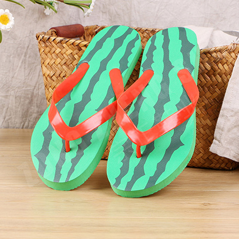 Tangnest Women Fashion Summer Slip-on Beach Shoes Comfortable Solid Watermelon Flip Flops Woman Plus Size 36~41 XWT1608