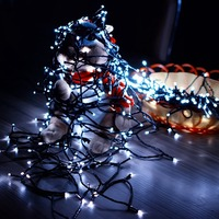 50 LED String Light 7M Christmas Solar Powered Star Festive Outdoor Decoration Waterproof Fairy Lamp LED
