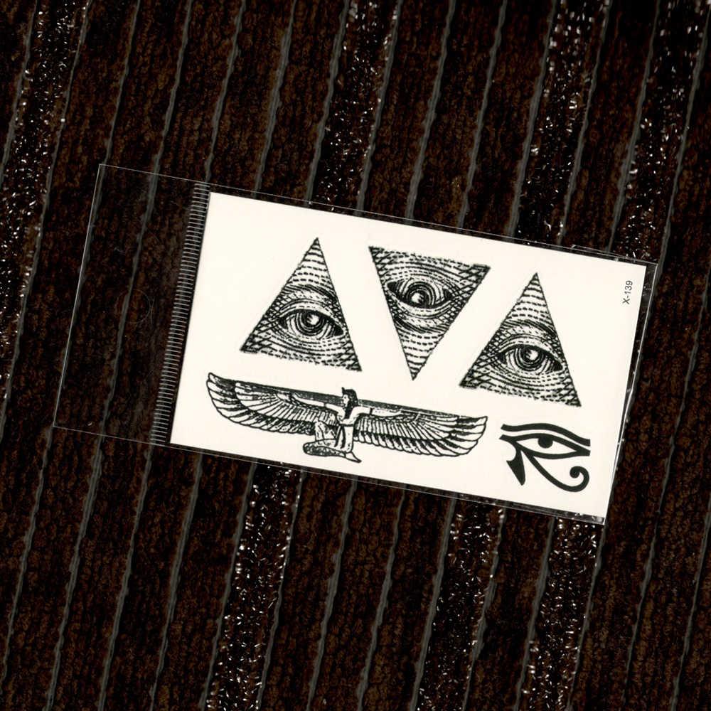 Egito triângulo olho asas totem transferência de água tatuagens falsas adesivos temporários à prova dwaterproof água masculino feminino legal beleza arte do corpo