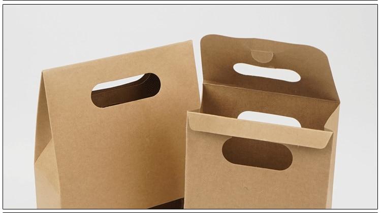 DHL 150 stks 10.5*15 + 6 cm Bottom Stand Up Kraftpapier Handvat Opbergzakken Met Clear Window voor Noten Voedsel Snack Doypack Zakjes-in Geschenktasjes & Inpak Benodigheden van Huis & Tuin op  Groep 3