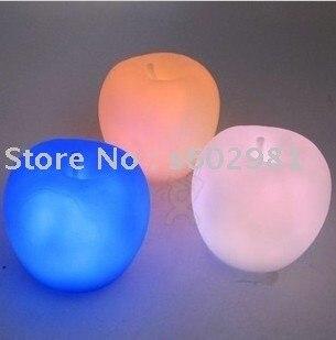 FREE SHIPPING  LED Colorful apple shape Romantic Light,apple LED Mini Flashing Lamp!