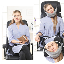 Gray Memory Foam Travel Pillow for Airplane Inflatable Neck Accessories Comfortable Pillows Sleep Home Textile