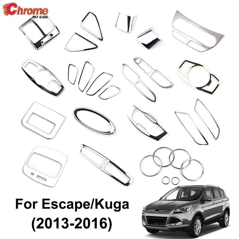 Для Ford Escape Kuga 2013 2014 2015 2016 хромированный внутренний высветильник ель света Панель AC Крышка вентиляционного отверстия отделка украшение авто...