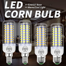 GU10 LED Corn Light Bulb E27 Cob Led Lamp SMD 5730 E14 Bombillas 24 36 48 56 69 72 leds 220V Chandelier Candle Lights For Home e27 led bulb e14 led lamp ac 220v 240v corn candle lamp 24 36 48 56 69 72 leds chandlier lighting for home decoration led lights