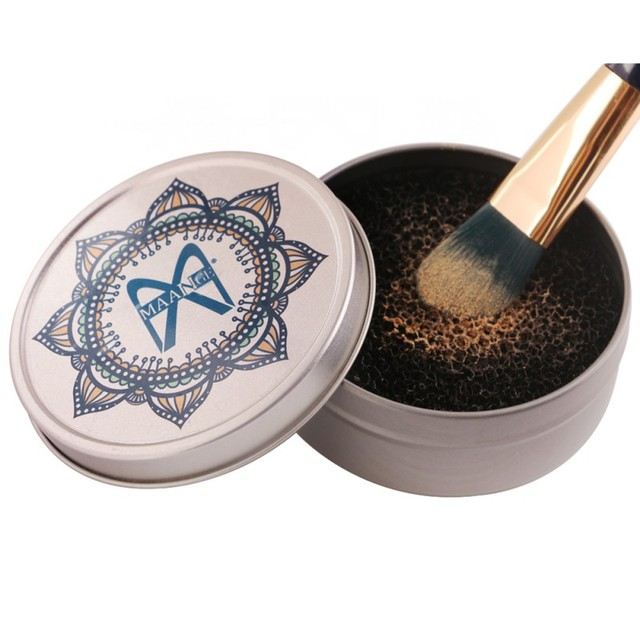 Nuevo limpiador de brochas de maquillaje removedor de esponja Color rápido de la esponja de sombra de ojos limpiador