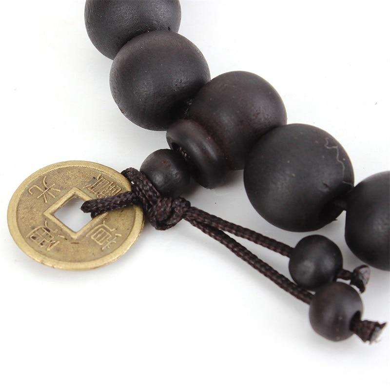 2018 10MM Wood Buddha Buddhist Beads Bracelets Tibet Mala Bangle Wrist Band Jewelry Unisex Fashion Charm Strand Bangles