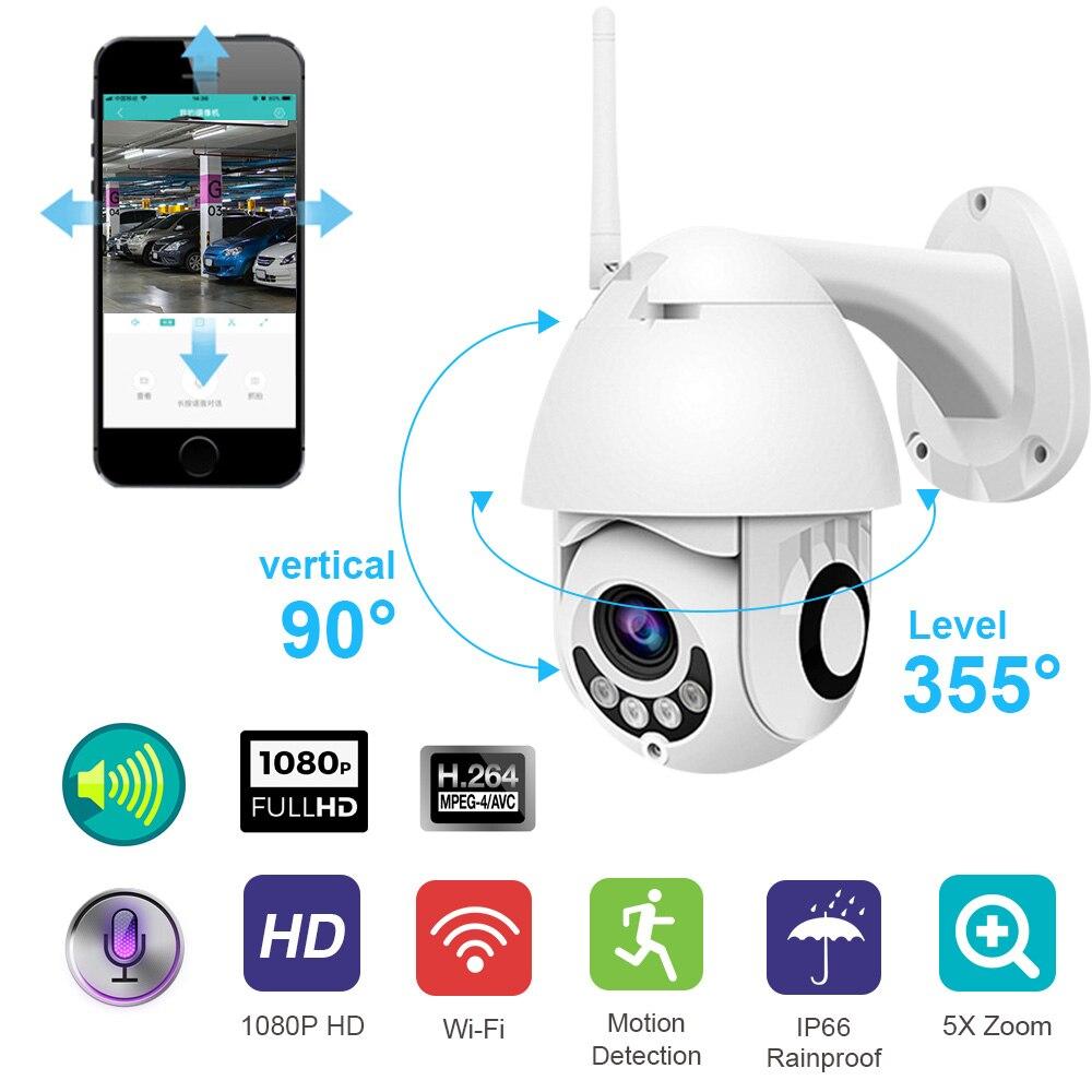 WIFI Caméra Extérieure PTZ IP Caméra 1080 p HD Vitesse Dôme CCTV caméras de sécurité IP Caméra WIFI Extérieur 2MP IR Accueil surveilance