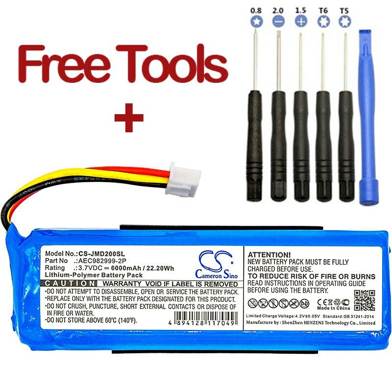 Cameron sino 6000 mah bateria AEC982999-2P para carga jbl
