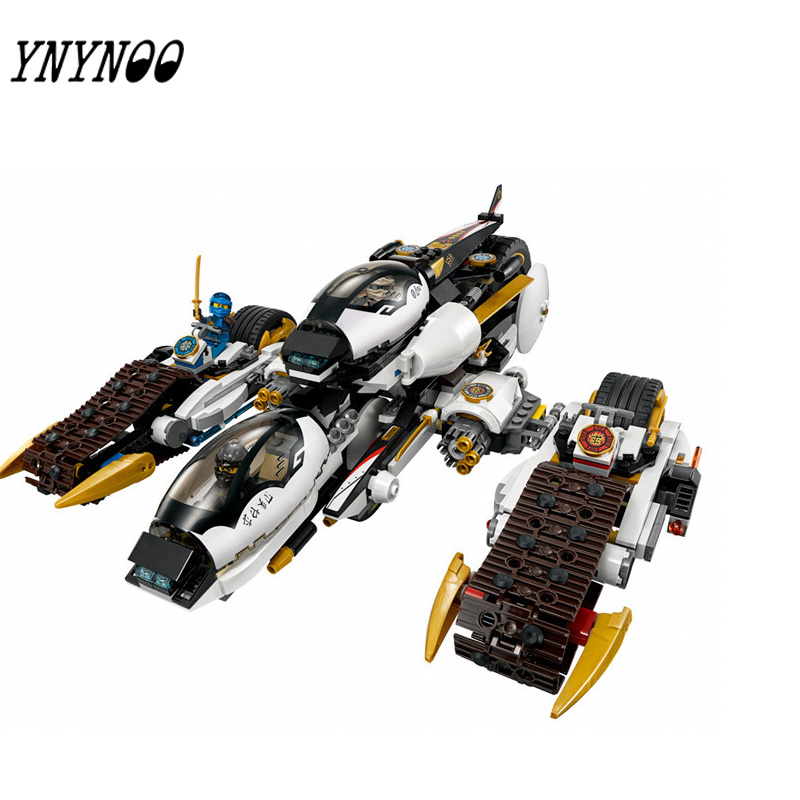 YNYNOO 06038 Compatible Ninja Ultra Stealth Raider 70595 Building Bricks Ninja Figure Toys For Children