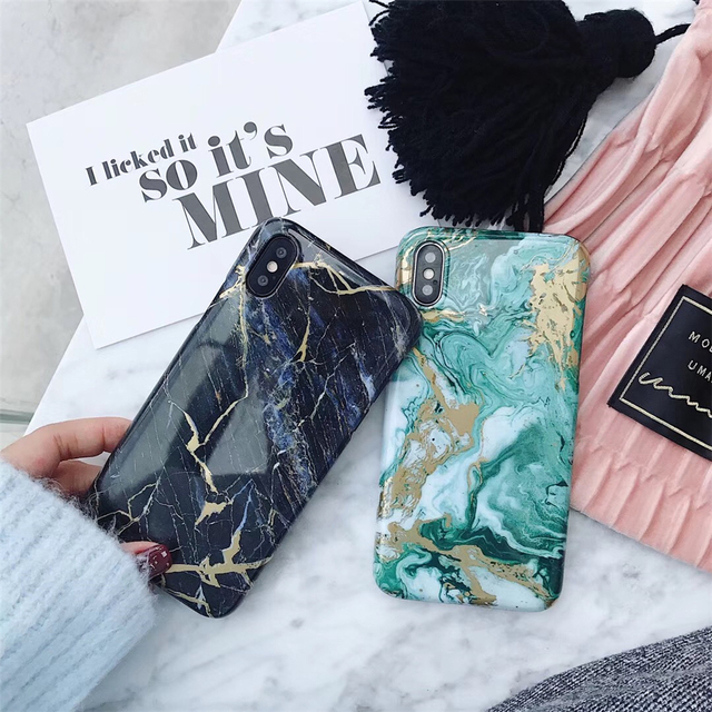 newest daf02 9bc9a US $2.58 |Stained Marble Blue Mint Green Phone Cases For Iphone 6 Cases  Etro Hard Smooth Cases For Iphone 6+ 6Plus 6splus Back Cover Shell-in ...