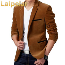 New Arrival Luxury Men Blazer Spring Fashion Brand High Quality Cotton Slim Fit Suit Terno Masculino Laipelar