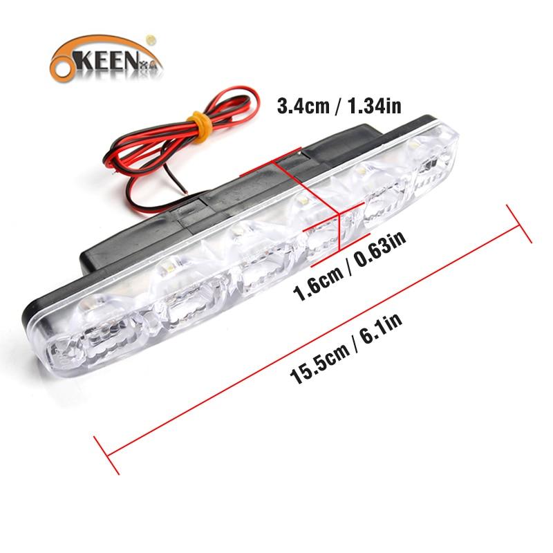 OKEEN 2 SZTUK LED Światła do jazdy dziennej w samochodzie DRL 6 - Światła samochodowe - Zdjęcie 3