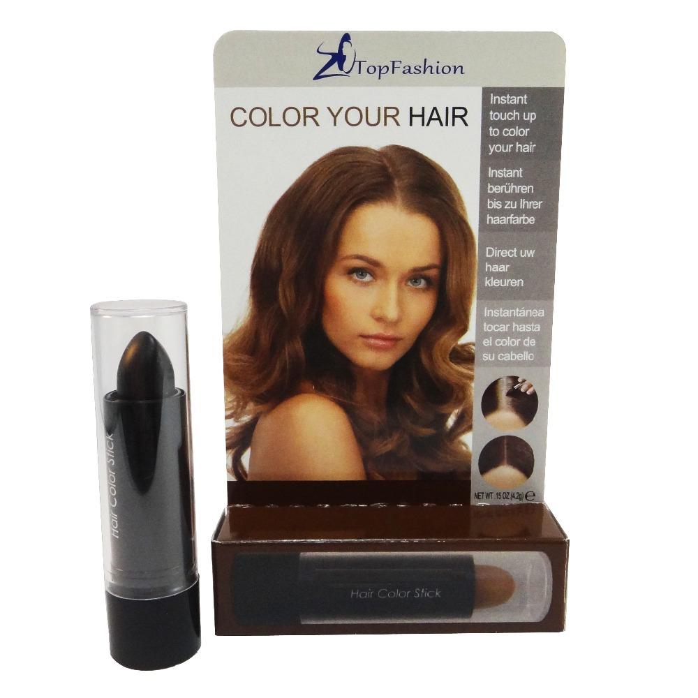 Black Color Temporary Touch Up Hair Stick Meet Fda Eec Regulation