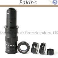 10X ~ 180X регулируемое увеличение 25 мм зум C mount объектив + 0.5X/2.0X/0.35X Барлоу Вспомогательный объектив + 2.5X линза для окуляра микроскопа