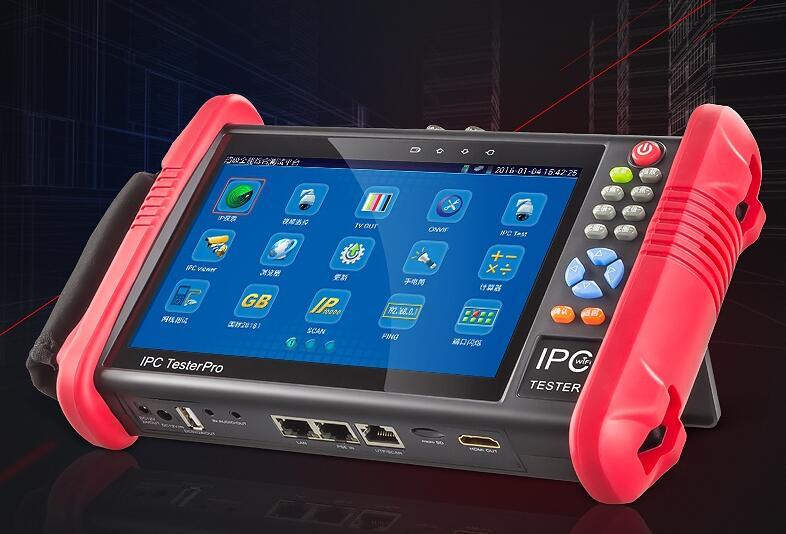 7 pollice 6 In 1 HD Monitor del Tester del CCTV IP AHD CVI TVI SDI Telecamere Analogiche Tester 8MP 5MP 1080 p WIFI ONVIF PTZ POE 12 v di Uscita