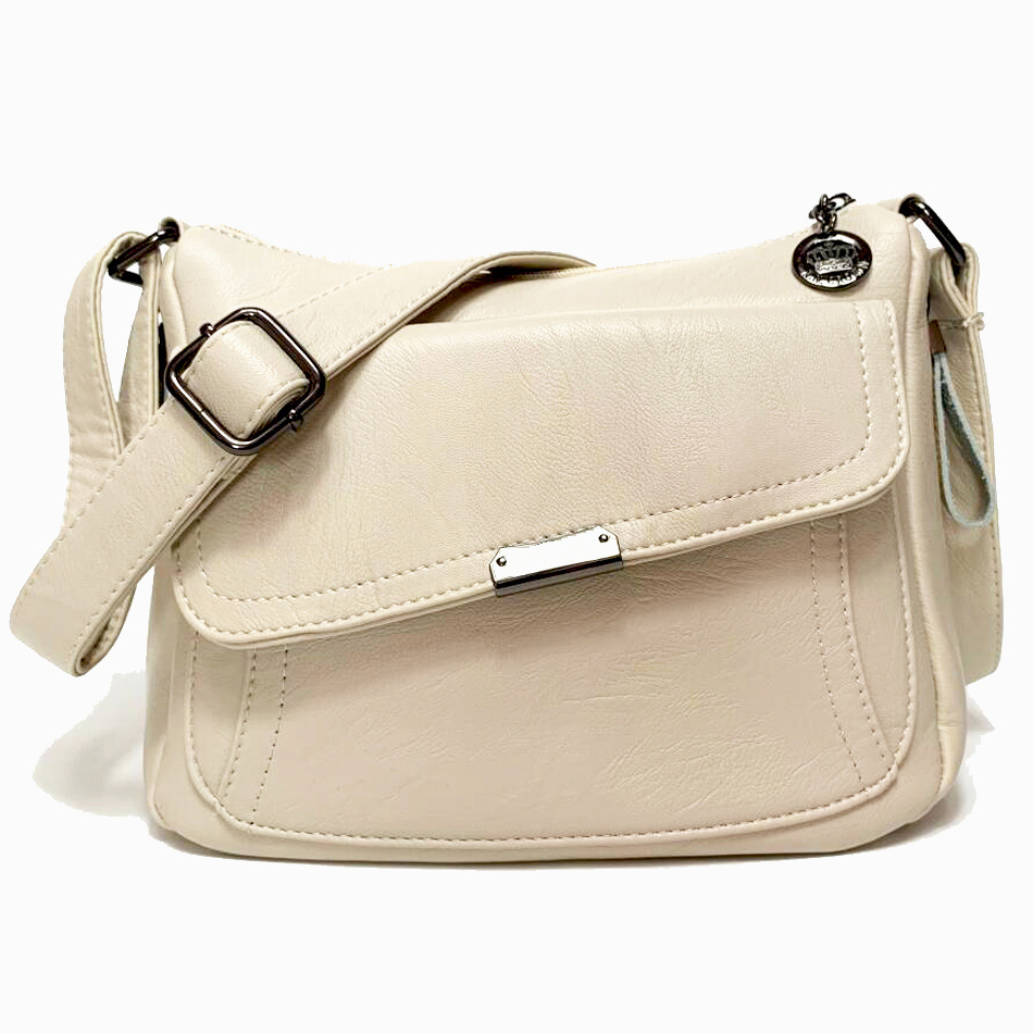 Summer White Bag 2019 Soft Leather Luxury handbags Women bags Designer Shoulder bags for women crossbody bag Sac a main femme