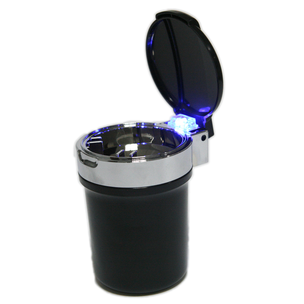 LED Light Portable Auto Car Cigarette Ash Ashtray Smokeless Cylinder Cup Holder