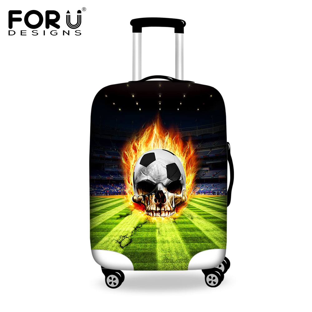 FORUDESIGNS Cool Skull Waterproof Suitcase Cover Travel Luggage Protective Dust Cover To 18/20/22/24/26/28/30 Inch Suitcase