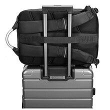 15.6″ Laptop Backpack Black Business Male Mochila USB Charging Functional Rucksack Waterproof Leisure Travel Backpack Men n1877