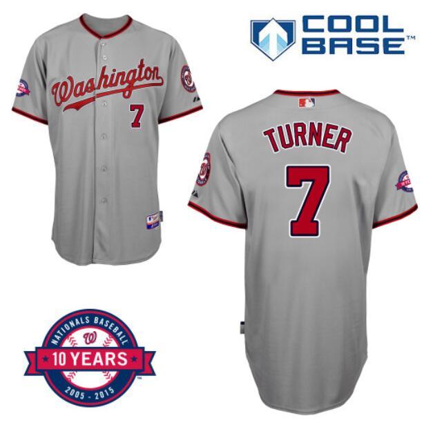0a484f87 2015 Mens 7 Trea Turner jersey Stitched Washington Nationals red white grey  blue Baseball jersey cheap ...