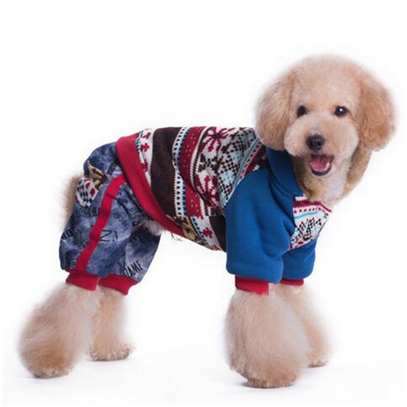 Autumn Winter New Dog 4 legs Print Warm Coat Pet Clothes Jacket For Dogs MYK001