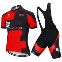 New BMCing Short Sleeves Cycling Jersey Bib Short 9D Sets MTB Bike Clothes Ropa Ciclismo Bicycle Clothes Maillot Culotte Wears