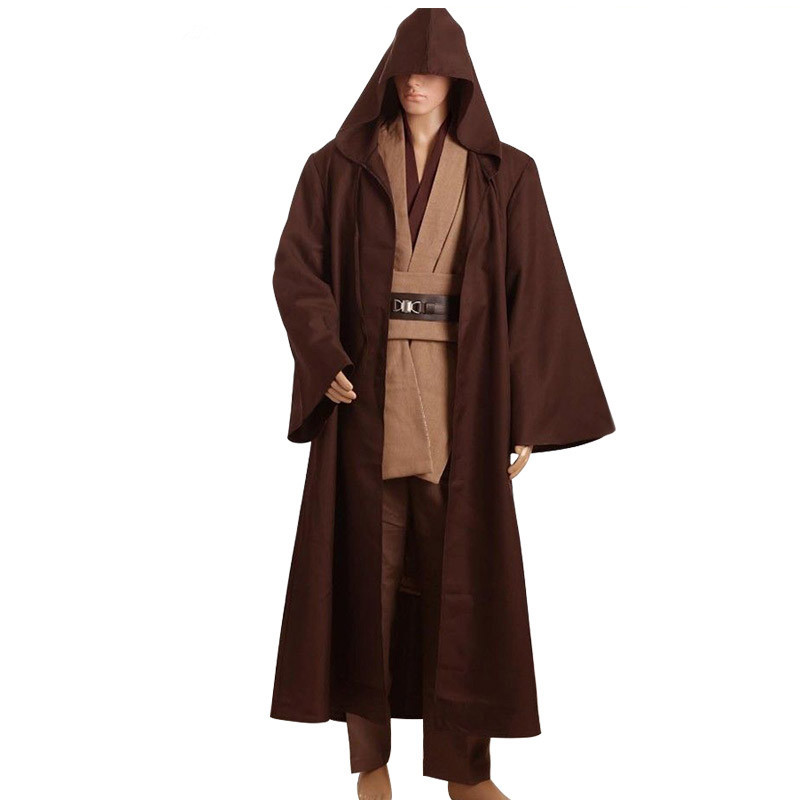 Custom Made Star Wars Obi Wan Kenobi Cosplay Costume Jedi Knight Costume boys clothes TUNIC Cloak