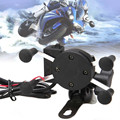 NEW Hot Sale X-Grip RAM Motorcycle Bike High quality Car Mount Cellphone Holder USB Charger For Phone