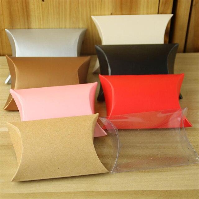100 Pcs Lot Plain Bantal Warna Solid Diy Tas Untuk Cookies Chocolate Karton Kotak